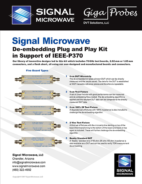 P370 Plug & Play De-embedding Kit Datasheet
