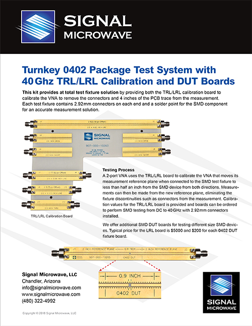 Turnkey 0402 Package Test System
